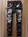 Bărbați Blugi Pantaloni Chinos Simplu Talie Medie,Micro-elastic Blugi Pantaloni Chinos Pantaloni Mată