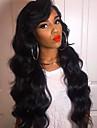 Äkta hår Spetsfront Peruk Brasilianskt hår Kroppsvågor Frisyr i lager 130% Densitet obearbetade 100% Jungfru Till färgade kvinnor