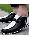Bărbați Pantofi PU Primăvară Toamnă Confortabili Oxfords Pentru Casual Negru Negru/Alb Negru/Albastru
