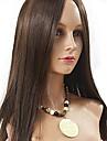 Äkta hår Hel-spets Peruk Eurasiskt hår Rak 130% Densitet Lång Dam Äkta peruker med hätta