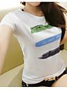 Pentru femei Tricou Bumbac Mată Imprimeu