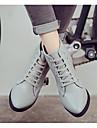 Femme Chaussures Cuir / Cuir Nappa Automne / Hiver boites de Combat / Bottes a la Mode Bottes Talon Bottier Bottine / Demi Botte pour
