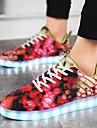 Damă Pantofi Țesătură Materiale Personalizate Imitație de Piele Toamnă Iarnă Confortabili Pantofi Usori Adidași Dantelă LED Pentru Casual