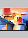 Pictat manual Abstract Orizontal,Abstract Modern 1 buc Canava Hang-pictate pictură în ulei For Pagina de decorare