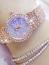 Dámské Luxusní hodinky Diamond Watch zlaté hodinky japonština Křemenný Nerez Stříbro / Zlatá / Růžové zlato 30 m Hodinky na běžné nošení Analogové dámy Přívěšky Módní Bling bling - Zlatá Stříbrn