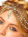Damă Imitație de Perle Ștras Acrilic Primăvara/toamnă Toate Sezoanele Stil Vintage Boho Aliaj Stras Imitație Perlă,Lănțișor Cap