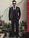 Bărbați Rever Clasic Mărime Plus Size Regular Costume Zilnic Simplu Casual, Mată Iarnă Toamnă Poliester
