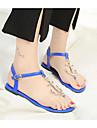 Damă Pantofi PU Vară Confortabili Sandale Pentru Casual Negru Rosu Albastru