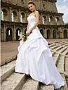 Da ballo A cuore Strascico da cappella Di pizzo Raso Abiti da sposa personalizzati con Ricamo Gonna con riprese di LAN TING BRIDE®