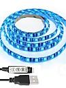 1m Bare De Becuri LED Rigide 60 LED-uri 5050 SMD RGB Ce poate fi Tăiat / Intensitate Luminoasă Reglabilă / Rezistent la apă 5 V 1set / IP65 / De Legat / Auto- Adeziv / Schimbare - Culoare