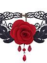 Pentru femei Altele Floare Formă Floral Elegant Dulce Coliere Choker Dantelă Aliaj Coliere Choker Zilnic Casual Costum de bijuterii
