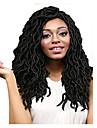 Lockigt Virkad Ombre flätat hår 100% kanekalon hår Dreadlocks / Faux Locs Hårförlängningar av äkta hår dreadlocks Hårflätor Mellan