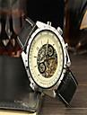 Jaragar Bărbați Ceas Casual Ceas La Modă Ceas Elegant Ceas de Mână Mecanism automat Calendar Piele Bandă Casual Cool