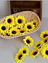 פרחים מלאכותיים 10 ענף פסטורלי סגנון חמניות פרחים לשולחן