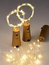 3pcs 15-condus de 0.75 m de sârmă de cupru lumina de sârmă lumina cu sticla opritor pentru ambalaje de sticlă sticlă zână Valentine nunta
