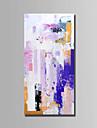 Hang-pictate pictură în ulei Pictat manual - Abstract Abstract pânză