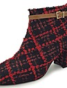 Damă Pantofi Cauciuc Iarnă Cizme la Modă Cizme Vârf rotund Pentru Negru Gri Rosu