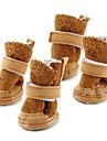 Câine Pantofi & Cizme Cizme de Zăpadă Keep Warm Modă Solid Maro Roz Pentru animale de companie
