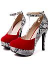Femme Chaussures Daim Printemps / Automne Nouveaute / Confort Chaussures a Talons Bout pointu Boucle / Motif Animal pour Mariage / Soiree