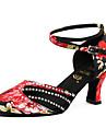 Pentru femei Pantofi Moderni Imitație de Piele Adidași Profesional Toc Stilat Personalizabili Pantofi de dans Negru / Roșu