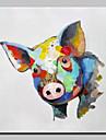 Hang målad oljemålning HANDMÅLAD - Djur Djur Enkel Moderna Duk