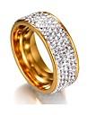 Pentru femei Zirconiu Cubic Teak Band Ring - 1 Geometric Shape Clasic / De Bază Argintiu / Auriu Inel Pentru Nuntă / Absolvire