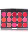 15 färger röd sexig matt läppstift palett vattentät makeup sammet lip stick palett
