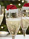 10pcs Crăciun Ornamente de crăciunForDecoratiuni de vacanta 6*3.6*0.2