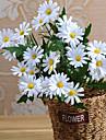 Flori artificiale 1 ramură Pastoral Stil Margarete Față de masă flori