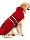 Perro Abrigos / Banda Reflectante Ropa para Perro Un Color Azul Oscuro / Rojo / Verde Cazador Ante / Algodon Disfraz Para mascotas Mantiene abrigado