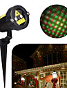 1set hkv® 5w mini-projektorlampa multicolor LED-festljus projektorplattlampa ac 100-240v