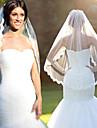 One-tier Lace Applique Edge Fashion Wedding Veil Elbow Veils 53 Lace Lace Tulle