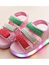 Flickor Skor Syntetiskt Microfiber PU Vår Sommar Komfort Sandaler för Casual Vit Svart Rosa