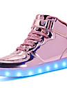 Femme Chaussures Matieres Personnalisees / Similicuir Automne / Hiver Confort / Chaussures Lumineuses Basket Bout rond Lacet / La boucle