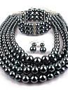 Pentru femei Imitație de Perle Circle Shape Bijuterii Statement Casual Serată Σκουλαρίκια Coliere Brățări Costum de bijuterii