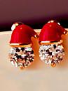 Pentru femei Cercei Stud Zirconiu Cubic Modă Încântător Zirconiu Aliaj Bijuterii Crăciun Carnaval Costum de bijuterii