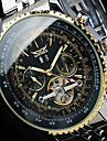 Bărbați Ceas La Modă Ceas de Mână ceas mecanic Ceas Schelet Mecanism automat Calendar Oțel inoxidabil Bandă Lux Casual Cool