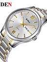 BIDEN Men\'s Wrist Watch Quartz Stainless Steel Silver / Gold Calendar / date / day Casual Watch Analog Casual Fashion Elegant - Gold / Silver Black / Silver White / Silver