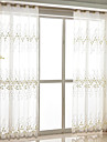 Sheer Curtains Shades Bedroom Floral Polyester Blend Embroidery