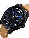 Bărbați de Copil Ceas Casual Ceas La Modă Ceas de Mână Chineză Quartz Calendar Rezistent la Apă Mare Dial Piele Autentică Bandă Vintage