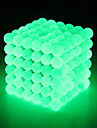 64 pcs 5mm Magnet Toy Magnetic Balls Building Blocks Super Strong Rare-Earth Magnets Neodymium Magnet Strand Magnetic Type Stress and Anxiety Relief Glow in the Dark Kid\'s / Adults\' Boys\' Girls\' Toy