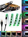 60 lysdioder 1M LED Strip Light 17-nyckel fjärrkontrollen RGB TV Bakgrundsljus <5V