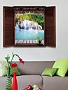 Peisaj #D Perete Postituri 3D Acțibilduri de Perete Autocolante de Perete Decorative, Vinil Pagina de decorare de perete Decal Geam Perete
