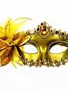 Karnival Masquerade Mask Venetian Mask Svart Silver Brun Metall Cosplay-tillbehör Maskerad