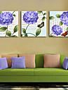 Kanvas Tryck Rustik Moderna, Tre paneler Duk Fyrkantig Tryck väggdekor Hem-dekoration