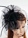 Plume Filet Fascinators Fleurs Chapeaux with Plumes / Fourrure 1pc Mariage Occasion speciale Casque