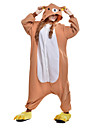Взрослые Пижамы кигуруми Медведи Цельные пижамы Флис Оранжевый Косплей Для Муж. и жен. Нижнее и ночное белье животных Мультфильм Фестиваль / праздник костюмы