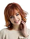 Ανθρώπινες περούκες περούκες μαλλιών Φυσικά μαλλιά Σγουρά Κύμα Νερού Κούρεμα με φιλάρισμα Με αφέλειες Πλευρικό μέρος Μαλλιά μπαλαγιάζ