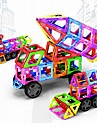 Magnetic Blocks Magnetic Tiles Building Blocks 198 pcs Vehicles Car Transformable Boys' Girls' Toy Gift