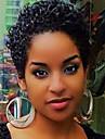 Perucas de cabelo capless do cabelo humano Cabelo Humano Encaracolado / Jerry Enrolado Corte Pixie Fashion Natureza negra Curto Fabrico a Maquina Peruca Mulheres
